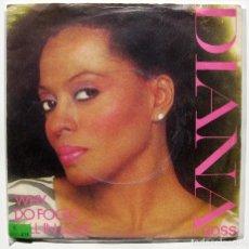 Discos de vinilo: DIANA ROSS - WHY DO FOOLS FALL IN LOVE - SINGLE CAPITOL RECORDS 1981 UK BPY. Lote 199489191