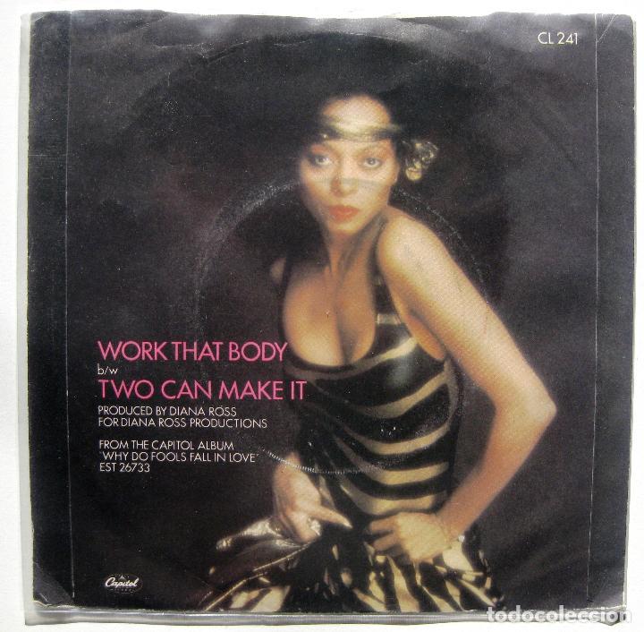Discos de vinilo: Diana Ross - Work That Body - Single Capitol Records 1981 UK BPY - Foto 2 - 199490626