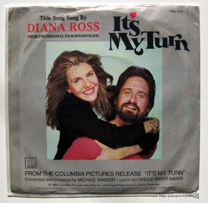 Discos de vinilo: Diana Ross - Its My Turn - Single Motown 1980 UK BPY - Foto 2 - 199492801