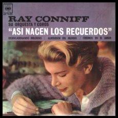 Discos de vinilo: XX VINILO, RAY CONNIFF SU ORQUESTA Y COROS, ASI NACEN LOS RECUERDOS.. Lote 199495078
