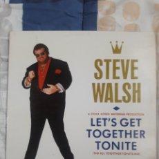 Discos de vinilo: DISCO STEVE WALSH LEST GET TOGETHER. Lote 199497226