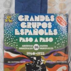 Discos de vinilo: DISCO GRANDES GRUPO ESPAÑOLES PASO A PASO 1960 & 1977. Lote 199498633