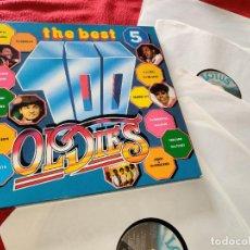Discos de vinilo: THE BEST 100 OLDIES 5LP BOX CAJA 1984 ITALY 100 CANCIONES . Lote 199502467