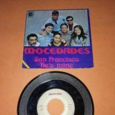 Discos de vinilo: MOCEDADES. SAN FRANCISCO . HE,S MINE. NOVOLA RECORDS 1971. Lote 199506746