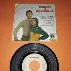 Discos de vinilo: SERGIO & ESTIBALIZ. BUSCAME. NOVOLA RECORDS. 1973. Lote 199507443
