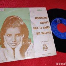 Discos de vinilo: FANTASIA Y NARBO AEROPUERTO/AQUILES/SOLO TU SABES/MIL BILLETES EP 1973 BCD PROMO. Lote 199511072
