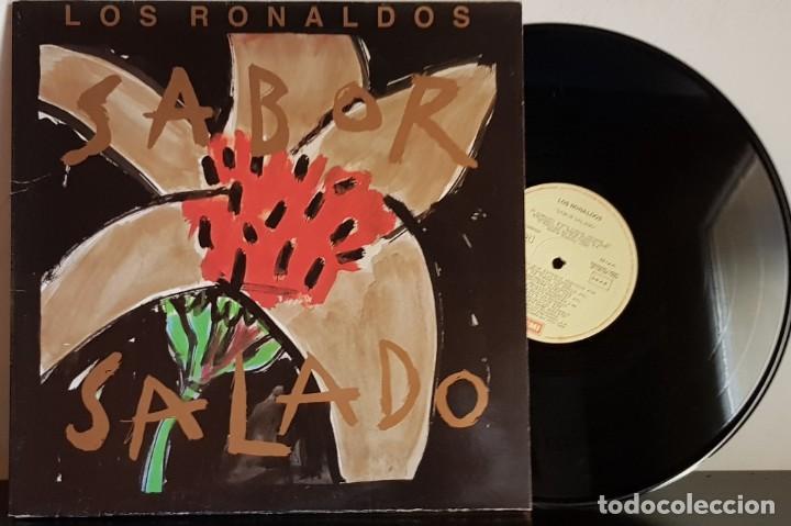LOS RONALDOS - SABOR SALADO - EMI 1990 - CARPETA ABIERTA (Música - Discos - LP Vinilo - Grupos Españoles de los 90 a la actualidad)