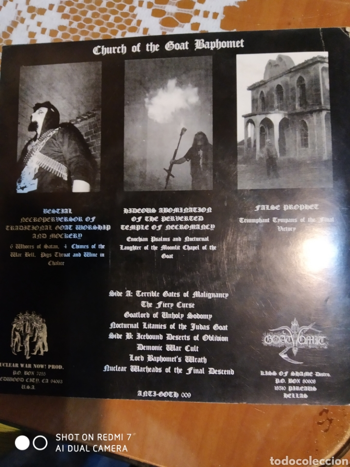 Discos de vinilo: Goat Tomit. Chapel of The winds of belial EP de 6 temas - Foto 5 - 199531448