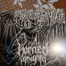 Discos de vinilo: HORNED ALMIGHTY. IN THE YEAR OF OUR HORNNED LORD. EP 4 TEMAS. Lote 199531853