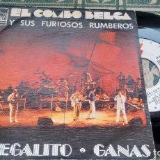 Discos de vinilo: SINGLE ( VINILO) DE EL COMBO BELGA AÑOS Y SUS FURIOSOS RUMBEROS AÑOS 80. Lote 199574465