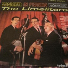 Discos de vinilo: LP THE LIMELITERS TONIGHT IN PERSON RCA LSP 2272 USA 1961. Lote 199577521