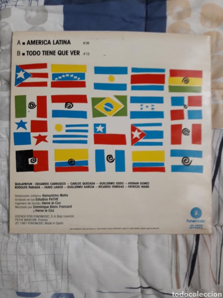 Discos de vinilo: DISCO QUILAPAYUN, AMERICA LATINA 1987 - Foto 2 - 199640837