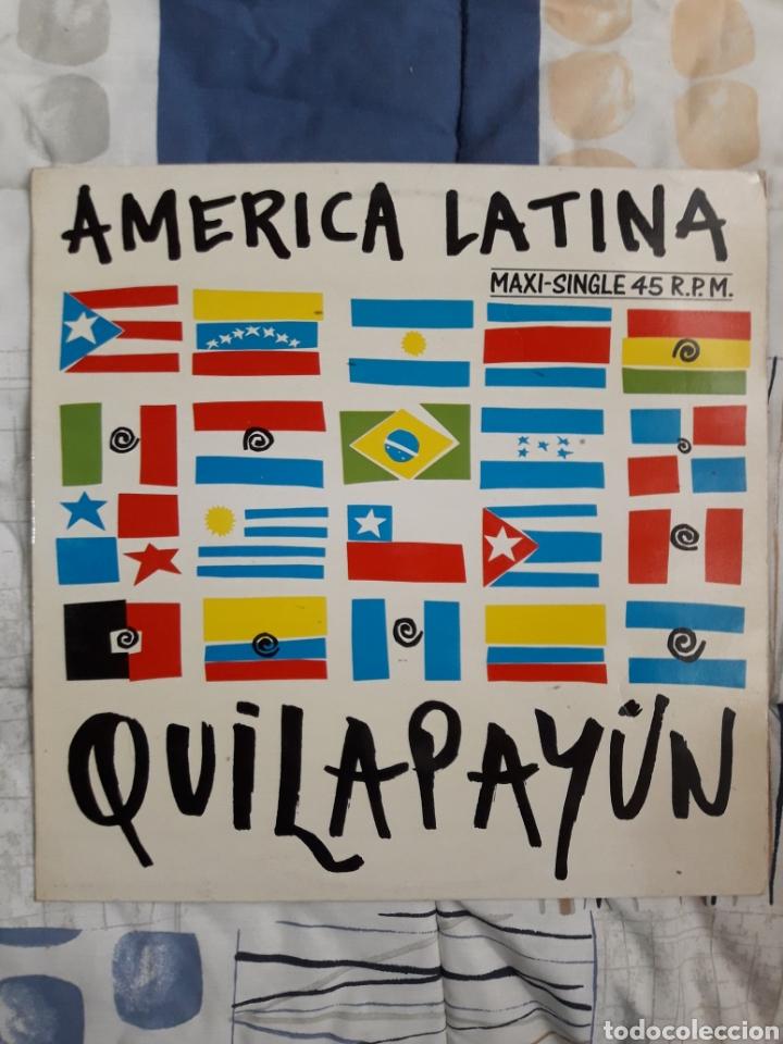 DISCO QUILAPAYUN, AMERICA LATINA 1987 (Música - Discos de Vinilo - Maxi Singles - Grupos y Solistas de latinoamérica)