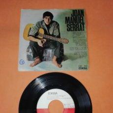 Discos de vinilo: JOAN MANUEL SERRAT. CANÇO DE MATINADA. EDIGSA RECORDS 1966. Lote 199641078
