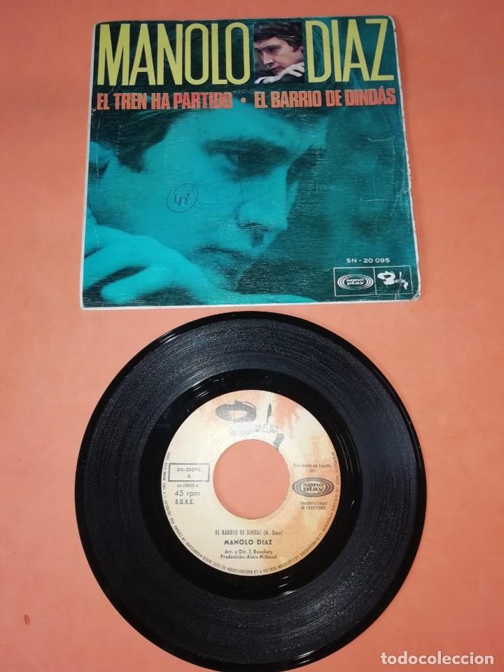 MANOLO DIAZ, EL TREN HA PARTIDO. SONOPLAY RECORDS 1968 (Música - Discos - Singles Vinilo - Solistas Españoles de los 50 y 60)