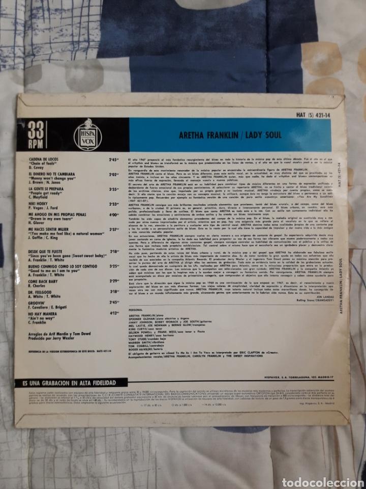 Discos de vinilo: DISCO ARETHA FRANKLIN, LADY SAUL - Foto 2 - 199642127