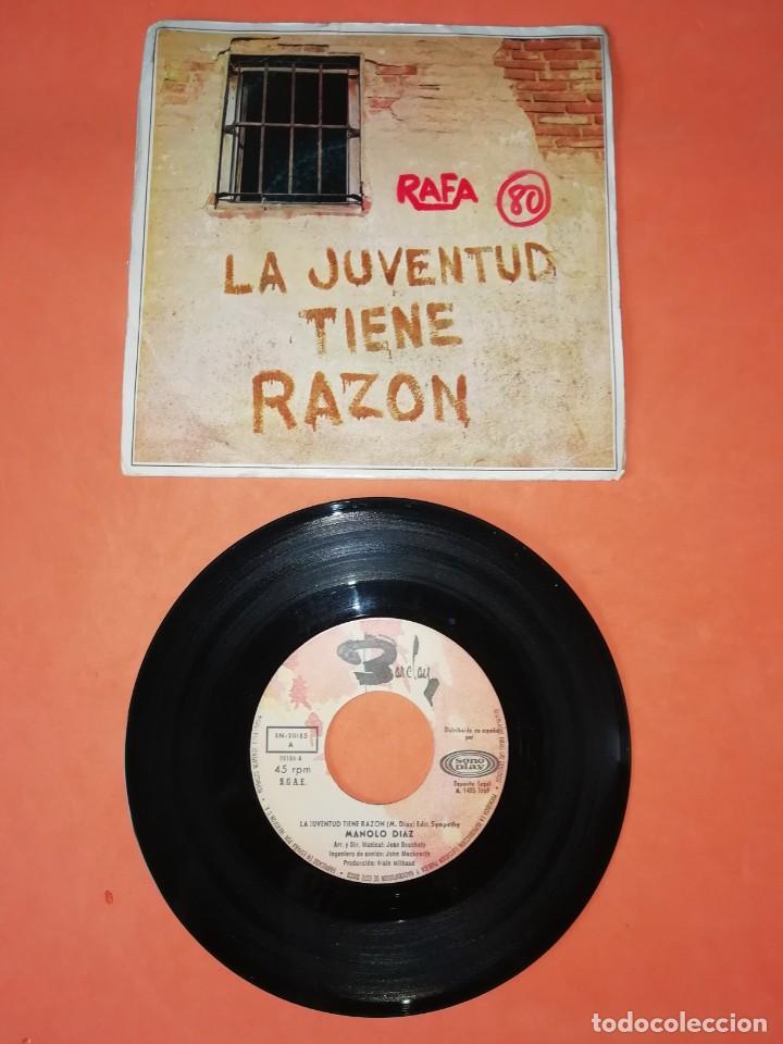 MANOLO DIAZ. LA JUVENTUD TIENE RAZON. SONOPLAY RECORDS 1969 (Música - Discos - Singles Vinilo - Solistas Españoles de los 50 y 60)