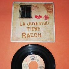 Discos de vinilo: MANOLO DIAZ. LA JUVENTUD TIENE RAZON. SONOPLAY RECORDS 1969. Lote 199643462