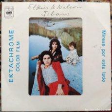 Discos de vinilo: ELKIN & NELSON - JIBARO (SINGLE) (CBS) CBS 2792. Lote 199643910