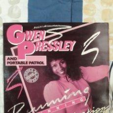 Discos de vinilo: DISCO GWEN PRESSLEY , RUNNING MAXI. Lote 199647135