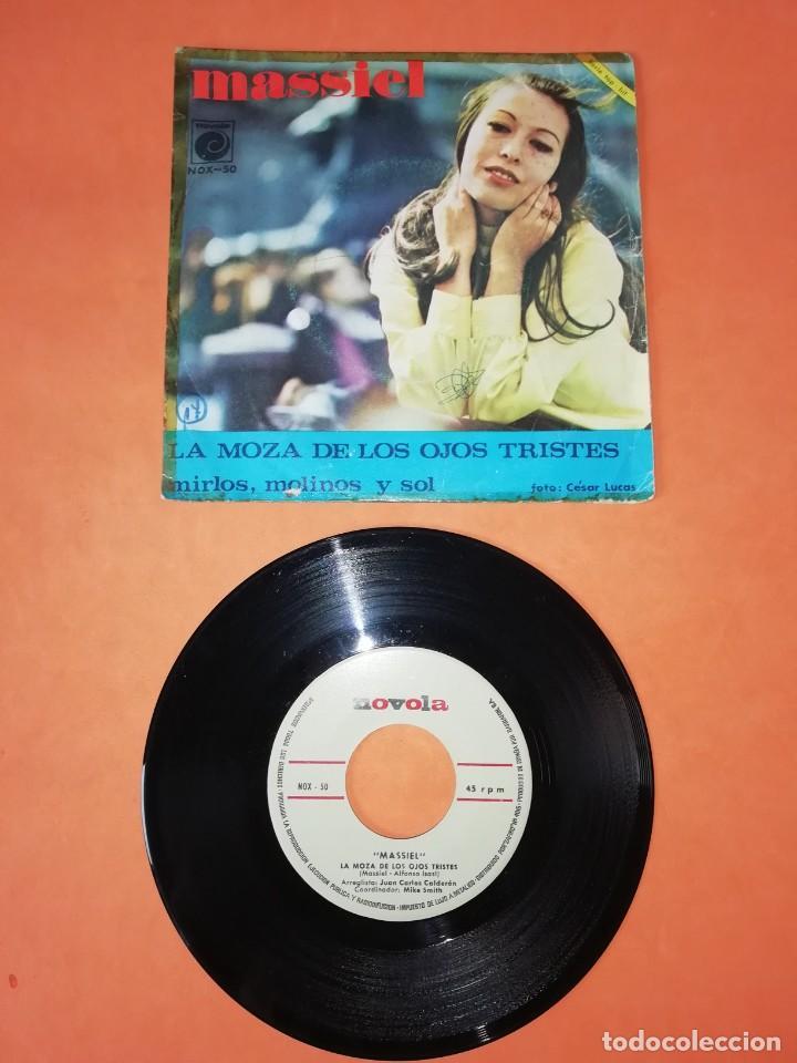 Discos de vinilo: MASSIEL. LA MOZA DE LOS OJOS TRISTES. MIRLOS,MOLINOS Y SOL. NOVOLA RECORDS 1967 - Foto 2 - 199650888