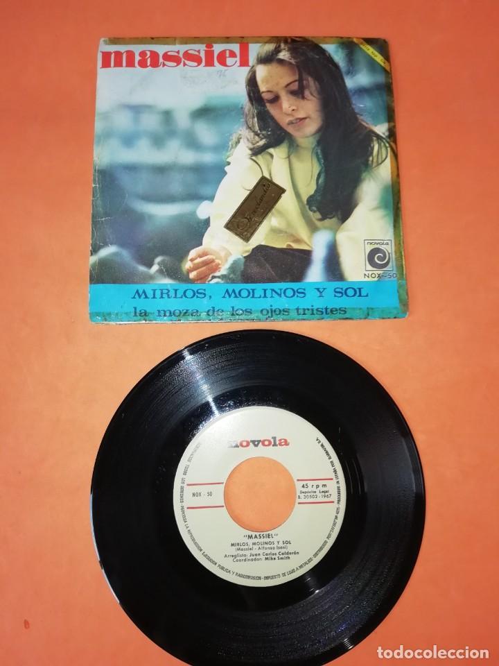 MASSIEL. LA MOZA DE LOS OJOS TRISTES. MIRLOS,MOLINOS Y SOL. NOVOLA RECORDS 1967 (Música - Discos - Singles Vinilo - Solistas Españoles de los 50 y 60)