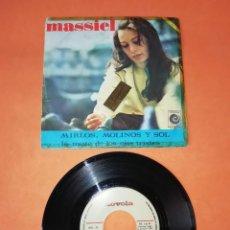 Discos de vinilo: MASSIEL. LA MOZA DE LOS OJOS TRISTES. MIRLOS,MOLINOS Y SOL. NOVOLA RECORDS 1967. Lote 199650888