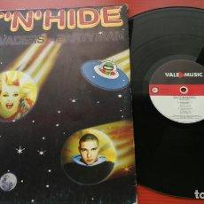 Discos de vinilo: MAXI SINGLE HIT'N'HIDE SPACE INVADERS PARTYMAN MAXI SINGLE VINYL. Lote 199657226