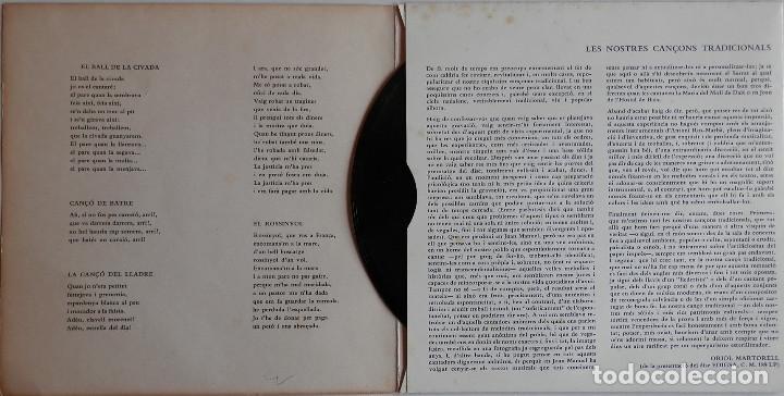 Discos de vinilo: JOAN MANUEL SERRAT - CANÇONS TRADICIONALS - El Ball de la Civada - Cançó de Batre - Portada Oberta - Foto 2 - 199657265
