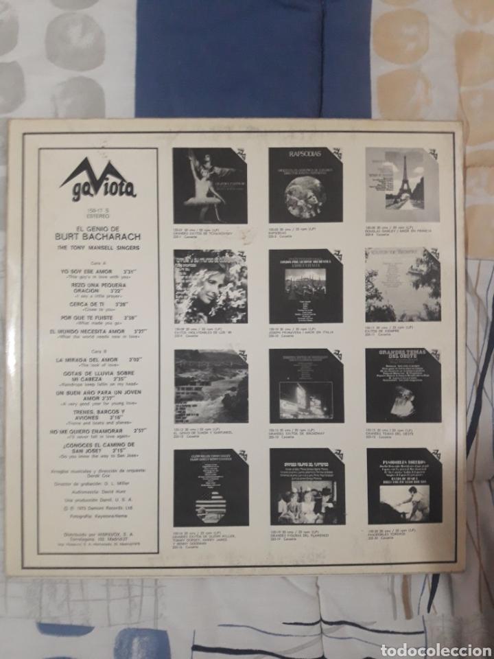 Discos de vinilo: DISCO THE TONY MANSELL SINGERS, EL GENIO DE BURT 1973 - Foto 2 - 199657276