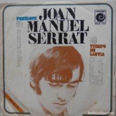 Discos de vinilo: JOAN MANUEL SERRAT - PENÉLOPE + TIEMPO DE LLUVIA - SINGLE 1969. Lote 199658327