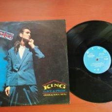 Discos de vinilo: MAXI SINGLE KING, LOVE & PRIDE-DON'T STOP CLASSIC STRANGERS 1985 IMPORT EDICION INGLESA. Lote 199659636