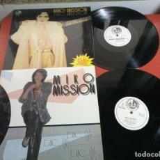 Discos de vinilo: 2 MAXI SINGLE MIKO MISSION, TWO FOR LOVE Y TOC TOC TOC 1986-7. Lote 199664220
