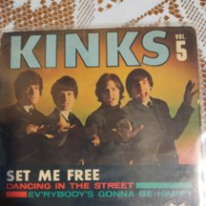 Discos de vinilo: THE KINKS. SET ME FREE + 3. EP. Lote 199667251