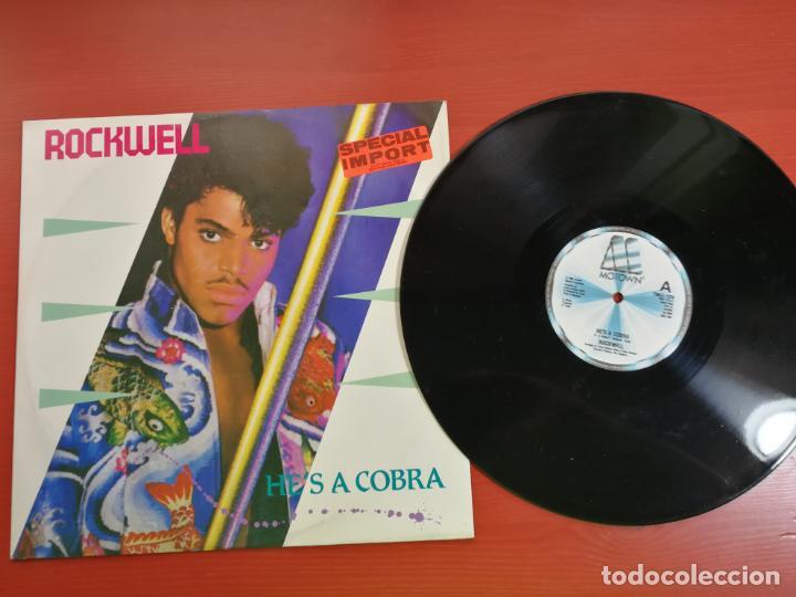 MAXI SINGLE ROCKWELL, HE'S A COBRA ESPECIAL IMPORTACION 1984 (Música - Discos de Vinilo - Maxi Singles - Pop - Rock - New Wave Internacional de los 80)