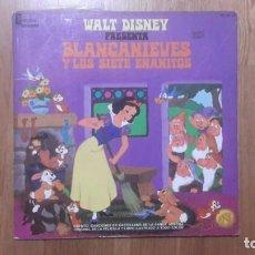 Discos de vinilo: BLANCANIEVES LP DISNEY CUENTO DISCO HL 080-09. Lote 199692316