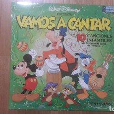 Discos de vinilo: VAMOS A CANTAR LP DISNEY EN ESPAÑOL. COMO NUEVO. Lote 199692468