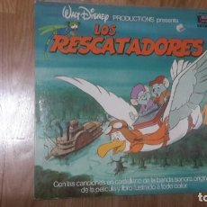 Discos de vinilo: LOS RESCATADORES LP DISNEY DISCO CUENTO HL 080-23. Lote 199692835