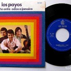 Discos de vinilo: LOS PAYOS - PEQUEÑA ANITA / ADIOS A JAMAICA - SINGLE HISPAVOX 1969 BPY. Lote 199693635