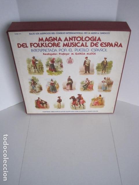 MAGNA ANTOLOGÍA DEL FOLKLORE MUSICAL DE ESPAÑA INTERPRETADA POR EL PUEBLO. M. GARCÍA MATOS. UNESCO. (Música - Discos - LP Vinilo - Country y Folk)