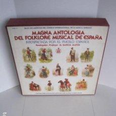 Discos de vinilo: MAGNA ANTOLOGÍA DEL FOLKLORE MUSICAL DE ESPAÑA INTERPRETADA POR EL PUEBLO. M. GARCÍA MATOS. UNESCO. . Lote 199694373