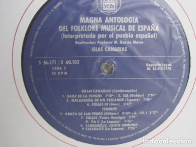 Discos de vinilo: MAGNA ANTOLOGÍA DEL FOLKLORE MUSICAL DE ESPAÑA INTERPRETADA POR EL PUEBLO. M. GARCÍA MATOS. UNESCO. - Foto 36 - 199694373