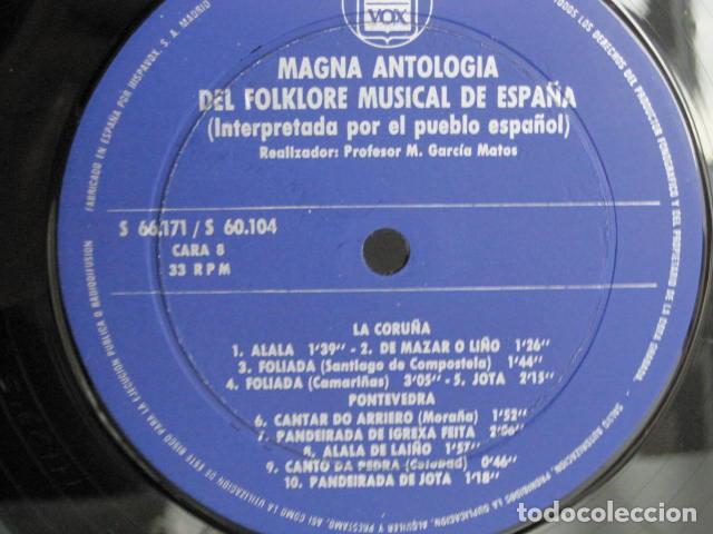 Discos de vinilo: MAGNA ANTOLOGÍA DEL FOLKLORE MUSICAL DE ESPAÑA INTERPRETADA POR EL PUEBLO. M. GARCÍA MATOS. UNESCO. - Foto 39 - 199694373