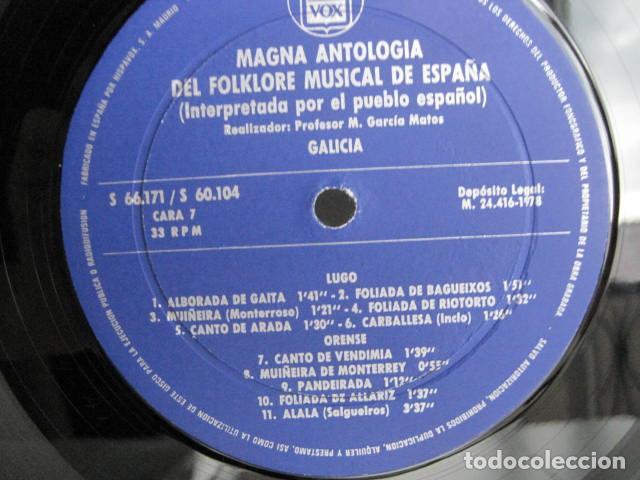 Discos de vinilo: MAGNA ANTOLOGÍA DEL FOLKLORE MUSICAL DE ESPAÑA INTERPRETADA POR EL PUEBLO. M. GARCÍA MATOS. UNESCO. - Foto 41 - 199694373