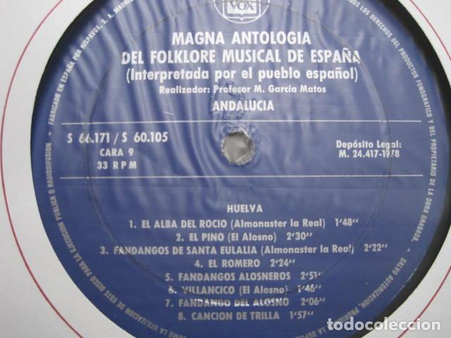 Discos de vinilo: MAGNA ANTOLOGÍA DEL FOLKLORE MUSICAL DE ESPAÑA INTERPRETADA POR EL PUEBLO. M. GARCÍA MATOS. UNESCO. - Foto 42 - 199694373