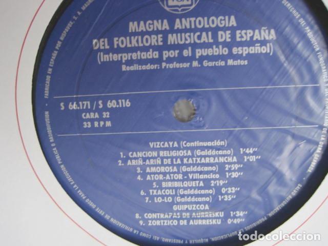 Discos de vinilo: MAGNA ANTOLOGÍA DEL FOLKLORE MUSICAL DE ESPAÑA INTERPRETADA POR EL PUEBLO. M. GARCÍA MATOS. UNESCO. - Foto 48 - 199694373