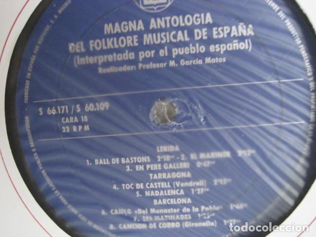 Discos de vinilo: MAGNA ANTOLOGÍA DEL FOLKLORE MUSICAL DE ESPAÑA INTERPRETADA POR EL PUEBLO. M. GARCÍA MATOS. UNESCO. - Foto 50 - 199694373