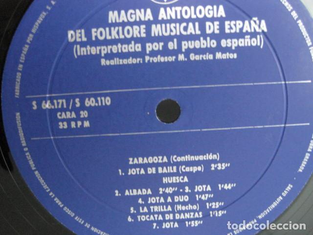 Discos de vinilo: MAGNA ANTOLOGÍA DEL FOLKLORE MUSICAL DE ESPAÑA INTERPRETADA POR EL PUEBLO. M. GARCÍA MATOS. UNESCO. - Foto 54 - 199694373