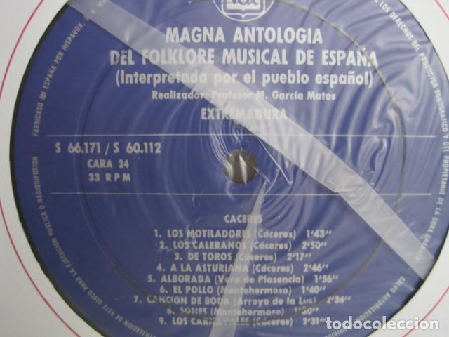 Discos de vinilo: MAGNA ANTOLOGÍA DEL FOLKLORE MUSICAL DE ESPAÑA INTERPRETADA POR EL PUEBLO. M. GARCÍA MATOS. UNESCO. - Foto 59 - 199694373