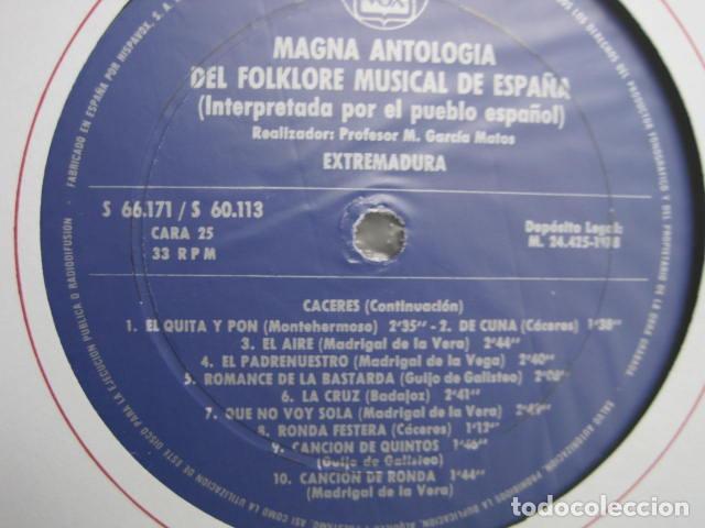 Discos de vinilo: MAGNA ANTOLOGÍA DEL FOLKLORE MUSICAL DE ESPAÑA INTERPRETADA POR EL PUEBLO. M. GARCÍA MATOS. UNESCO. - Foto 61 - 199694373